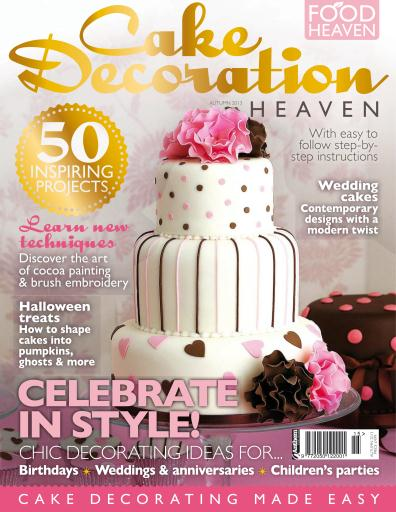 Cake Decorating Heaven Magazine   Cake Decoration Heaven Autumn 13     Title Cover Preview Cake Decorating Heaven Preview