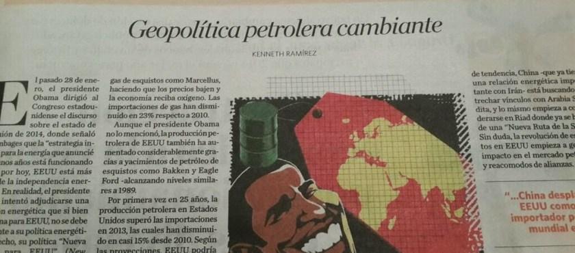 Geopolítica petrolera cambiante – Por Kenneth Ramírez