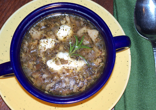 Mushroom and Herb Soup