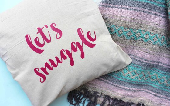Customizable Pillows with Heat Transfer Vinyl