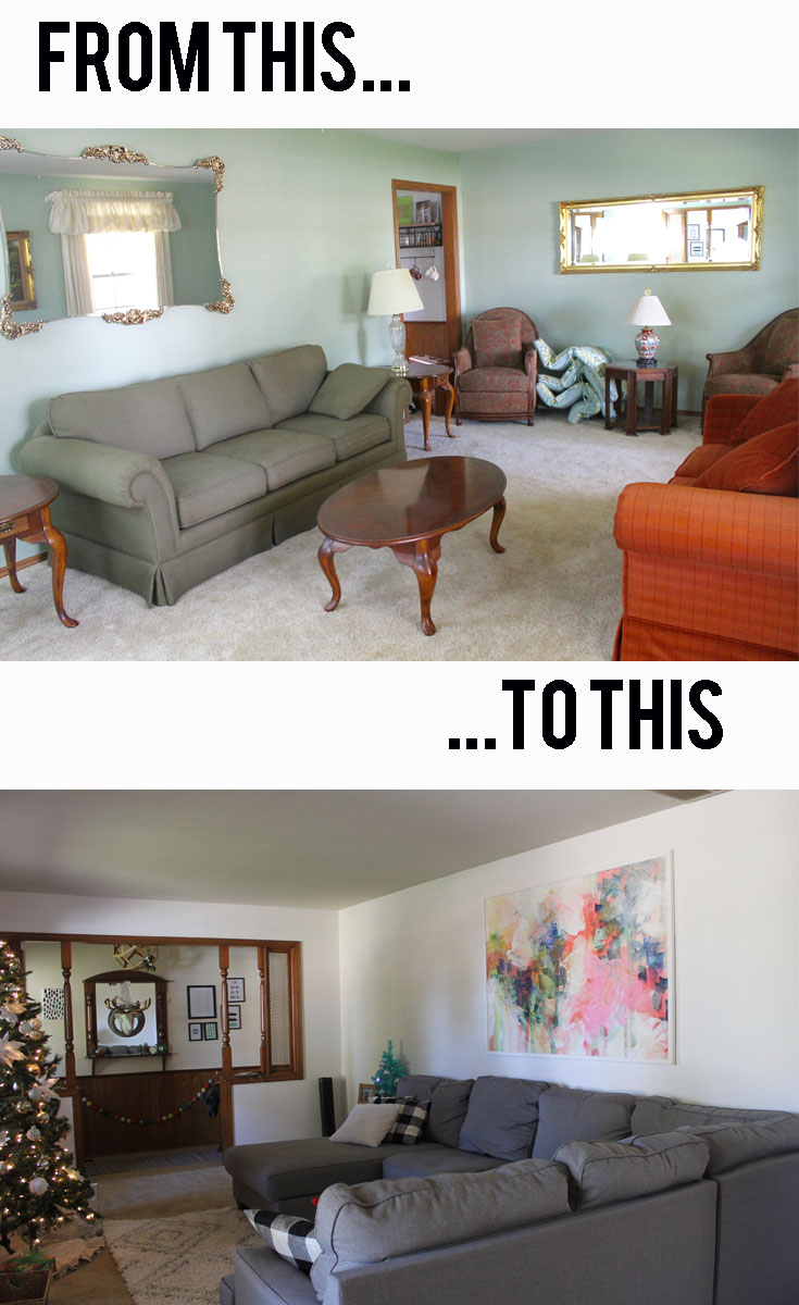 living room reveal