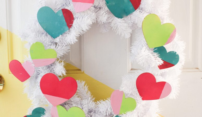Easy Valentine's Day Wreath