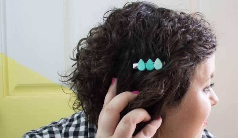 Air Dry Clay Hair Clip DIY-9
