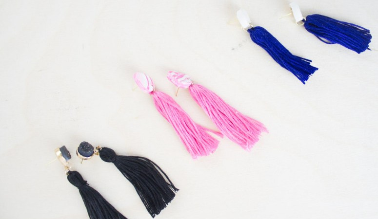 Easy DIY Tassel Earrings