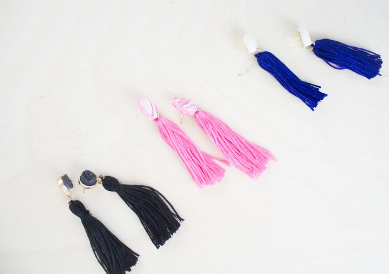 DIY Tassel Earrings are easy to make and cost less than purchasing them at your favorite boutique!