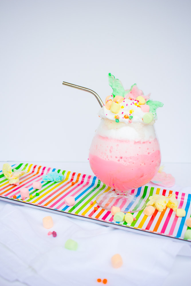 Unicorn Frozen Hot Chocolate is the perfect drink for summer nights!