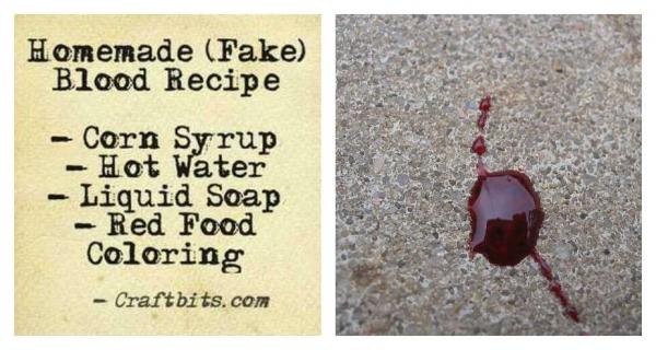 Homemade Fake Blood