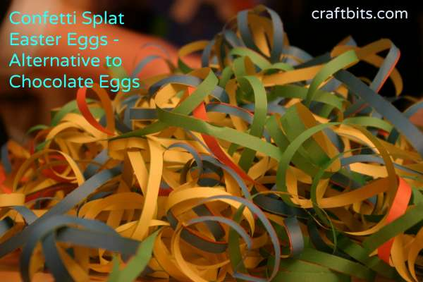 Confetti Splat Easter Eggs