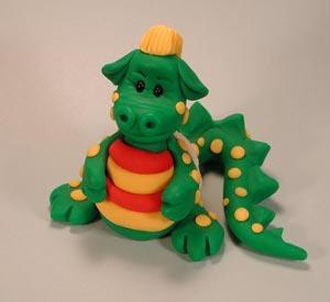 Polymer Clay Idea: Zack The Dragon
