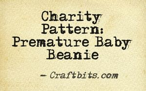 Charity Pattern: Premature Baby Beanie