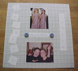 """Friends are Forever"" Scrapbooking Layout (I)"