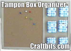 Tampon Box Cork Board