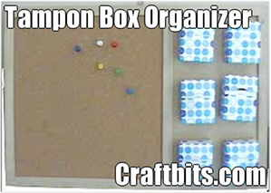 Tampon Box Cork Board