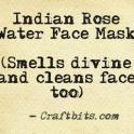 Indian Rose Face Mask