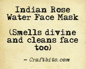 Indian Rose Face Mask