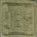 Knitted Letter Cloth - B