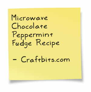 chocolate-peppermint-fudge-microwave