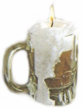 Frothy Beer Candle