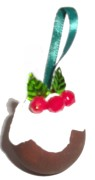 Plum Pudding Tree Ornament