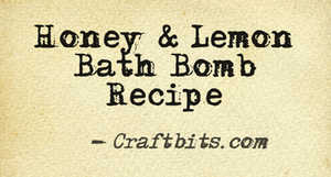 Bath Bomb – Lemon & Honey
