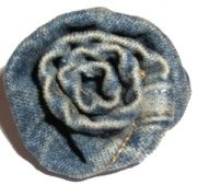 Denim Fabric Rose