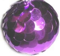 Sequin Disc Ball Ornament