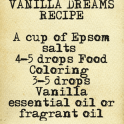 Bath salt vanilla delight recipe