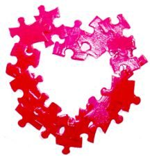 Heart Puzzle Frame