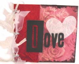 Brown Paper Bag Album – Valentine Theme