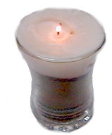 Sand Glass Candle