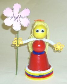 Clay Pot – Flower Girl