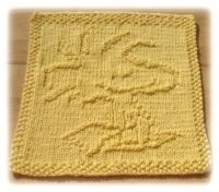 Knitted Dishcloth With Woody