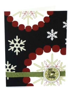 Christmas Card – Embellished Circles