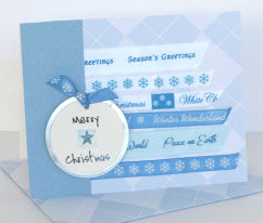 Christmas Card Idea: Sentiments Ribbon