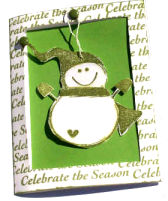 Christmas Card – Snowman Ornament
