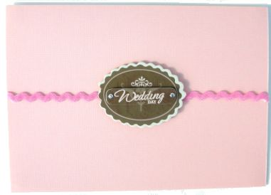 DIY Elegant Wedding Ribbon Card
