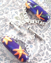 Orange Lilies Cuff Links