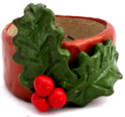 Polymer Clay – Holly Napkin Rings