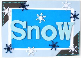 Christmas Card: SNOW Title