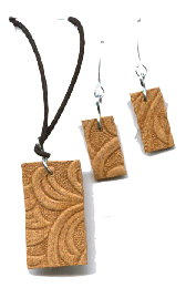 Recycled Belt – Swirls Set Jewelry