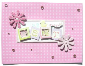 DIY Cardmaking – It's a baby girl card