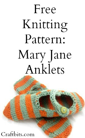 Knitted Slippers – Mary Jane Anklets