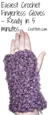 Easiest Fingerless Gloves: Crochet Pattern