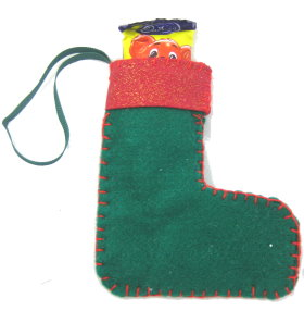 Santa Stocking Candy Holder