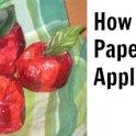 Faux Paper Mache Apples