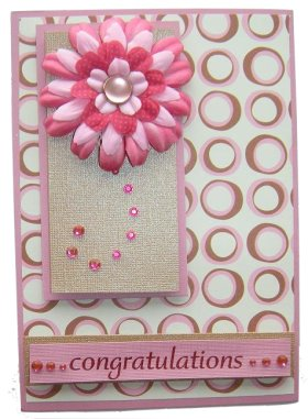 Cardmaking Idea – Congratulations Rhinestone