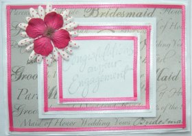 DIY Congratulations Engagement Card