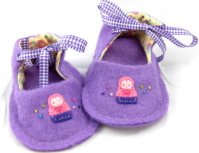 Felt Baby Shoe Pattern – Matryoshka Doll