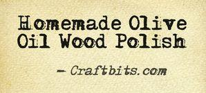 Olive Oil Wood Polish