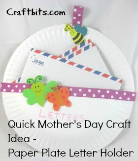 Mother's Day Craft: Paper Plate Letter Holder